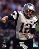 Tom Brady Touchdown Celebration Super Bowl XLIX