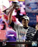 Tom Brady with the Vince Lombardi Trophy Super Bowl XLIX