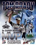 Tom Brady Super Bowl XLIX MVP Portrait Plus