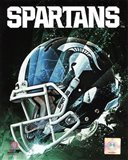 Michigan State Spartans Helmet Composite