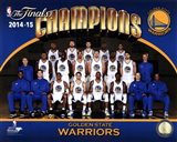 Golden State Warriors 2015 NBA Finals Champions Team Sit Down Photo