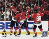 Duncan Keith, Brandon Saad, & Patrick Kane Goal Celebration Game 6 of the 2015 Stanley Cup Finals