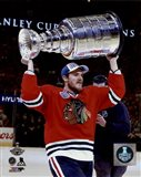 Andrew Shaw with the Stanley Cup Game 6 of the 2015 Stanley Cup Finals
