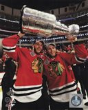 Jonathan Toews & Patrick Kane with the Stanley Cup Game 6 of the 2015 Stanley Cup Finals