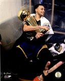 Stephen Curry with the NBA Championship Trophy Game 6 of the 2015 NBA Finals