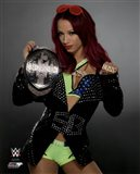 Sasha Banks with the NXT Women's Championship Belt 2015