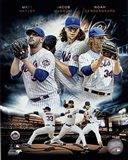 2015 New York Mets Pitchers- Matt Harvey, Jacob deGrom, & Noah Syndergaard Portrait Plus