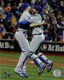 Wade Davis & Drew Butera celebrate winning Game 5 of the 2015 World Series
