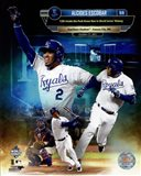 Alcides Escobar 12th Inside-the-park Home Run in world Series History Composite