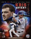 Kris Bryant 2015 National League Rookie of the Year Portrait Plus