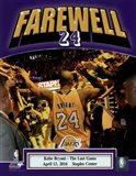 Kobe Bryant plays his final NBA game-Staples Center- April 13, 2016