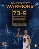 Golden State Warriors record breaking regular season 73-9