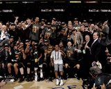 The Cleveland Cavaliers celebrate winning Game 7 of the 2016 NBA Finals
