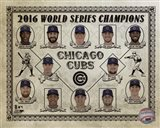 Chicago Cubs 2016 World Series Champions Vintage Composite