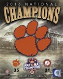 Clemson Tigers 2016 National Champions Team Logo