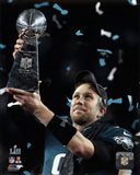 Nick Foles with the Vince Lombardi Trophy Super Bowl LII