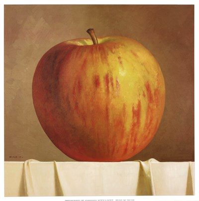 Apple Poster by Alex Du for $25.00 CAD