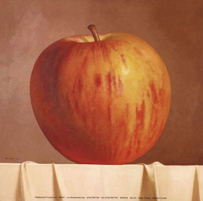 Apple Poster by Alex Du for $8.75 CAD