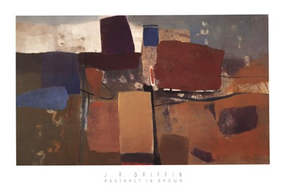 Abstract in Brown Poster by J. R. Griffin for $43.75 CAD