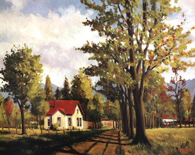 House On The Rural Road Poster by Pieter Molenaar for $43.75 CAD