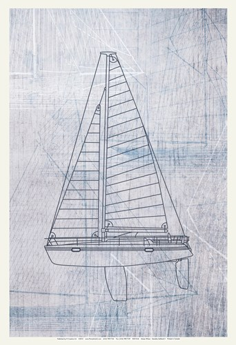 Danielas Sailboat II Poster by Aimee Wilson for $20.00 CAD