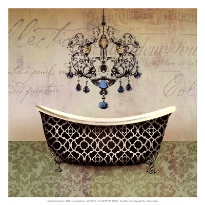 French Vintage Bath I - Mini Poster by Aimee Wilson for $15.00 CAD