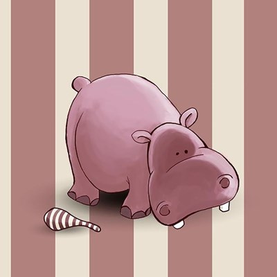 Hippo Stripes Poster by GraphINC for $35.00 CAD