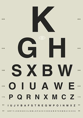 Sight Test White Poster by GraphINC for $51.25 CAD