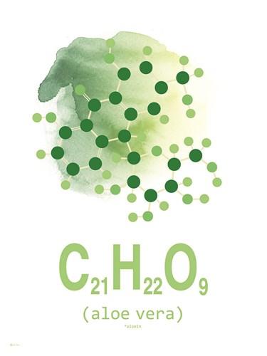 Molecule Aloe Vera Aqua Poster by TypeLike for $41.25 CAD