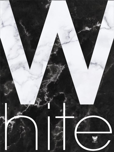 White Marble Poster by TypeLike for $41.25 CAD