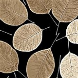 Brown Leafs - your walls, your style!