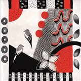 Flower Deco Black and Red I