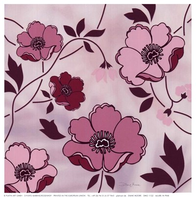 Allure In Pink Poster by Diane Moore for $11.25 CAD