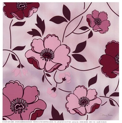 Allure In Mauve Poster by Diane Moore for $11.25 CAD