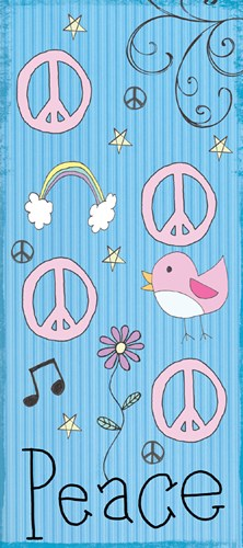 Peace Panel - Blue Poster by Louise Carey for $32.50 CAD