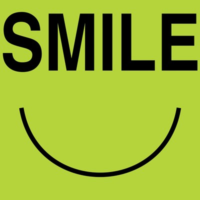 Smile - Green Poster by Louise Carey for $53.75 CAD