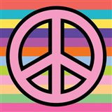 Peace - Pink on Stripes