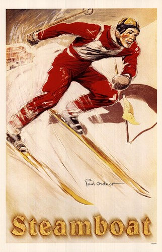 Steamboat Ski Poster Poster by Unknown for $25.00 CAD