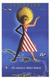 Panam Caribbean Travel Poster