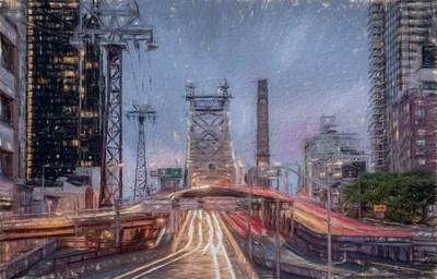 Queensboro Bridge 2 Poster by Franklin Kearney for $42.50 CAD