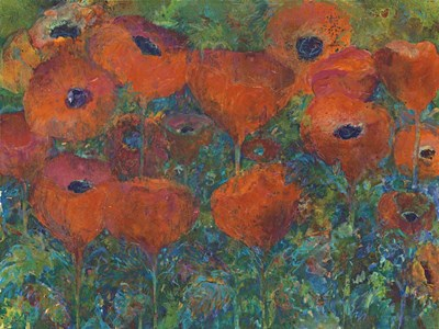 Poppies Poster by Tara Funk Grim for $41.25 CAD