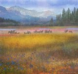 Flowered Meadow Elk