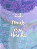 Eat Drink Give Thanks (words)