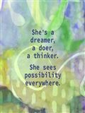 She's a Dreamer (words)