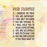 Teacher Calendar-Dear Students