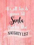 Santa Naughty List