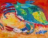 Blue Crab Triptych 3