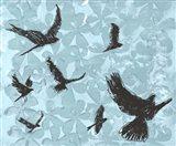 Birds on Light Blue