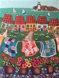 Rosey Roofed Cottages and Quilts