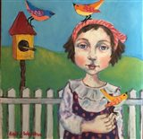 Fille Avec Oiseau